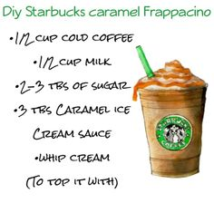 Diy caramel Starbucks Frappaccino discovered by Liz Diy caramel Starbucks Frappaccino discovered by Liz,FOOD AND DRINKS Frappuccino Do Starbucks, Bebidas Do Starbucks, Secret Starbucks Drinks, Starbucks Coffee, Coffee Drink Recipes, Milkshake Recipes, Easy Smoothie Recipes, Smoothie Drinks, Coffee Drinks