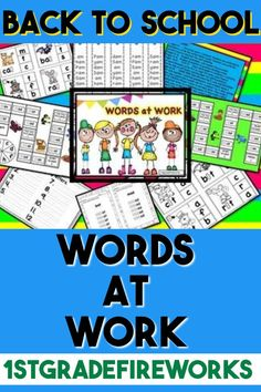 This mega packet contains ALL 5 short vowels. Each Word work packet contains: Beginning of the Year CVC Words What's Missing? (Letter Sounds) Rhyme Time ( Rhyming Words) Flip It. Beginning Of The School Year, Back To School, High School, School Resources, Teacher Resources, Teaching Ideas, Fun Fall Activities, Classroom Activities, Fluency Games