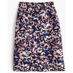 J.Crew A-line skirt in hibiscus print ($110) ❤ liked on Polyvore featuring skirts, print skirt, floral skirt, floral knee length skirt, j. crew skirts y a line skirt