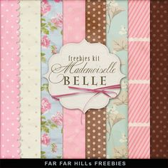 Far Far Hill - Free database of digital illustrations and papers: New Freebies Kit of Backgrounds - Mademoiselle Bel...