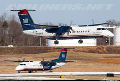 US Airways Express (Piedmont Airlines) De Havilland Canada DHC-8-311 Dash 8 	 Charlotte - Douglas International (CLT / KCLT) USA - North Carolina, February 14, 2014