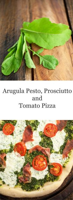 Want to switch up your pizza routine? Try this Arugula Pesto, Prosciutto, and Tomato Pizza! This homemade pizza recipe is topped with a super healthy arugula and sunflower seed pesto. The other toppings include prosciutto, tomatoes, and mozzarella cheese. Talk about a fun and healthy Italian style pizza!