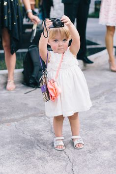 Stylish little flower girl. Photo: Corbin Gurkin She's SO CUTE! Cool Baby, Baby Kind, Baby Love, Precious Children, Beautiful Children, Beautiful Babies, Cute Kids, Cute Babies, Little People