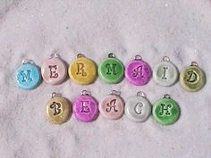 polymer clay | Mermaid Beach Bead Studio: Initial Charms in Polymer Clay