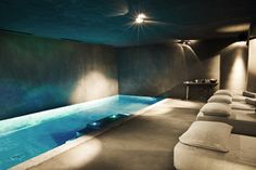 Indoor Pool, Spa Chalet Zannier Hotel in Megeve _