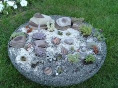 This is a rockery I designed for a small area not being used in my