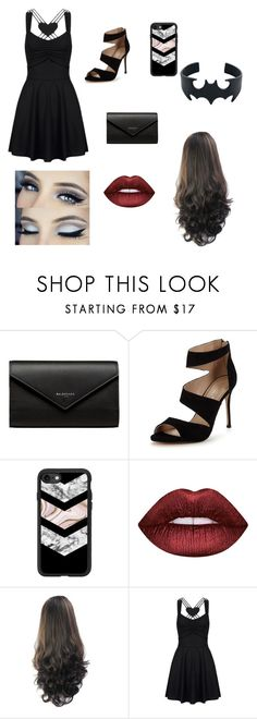 """""""Party time"""" by abrianafrawley ❤ liked on Polyvore featuring Balenciaga, Carvela, Casetify and Lime Crime"""