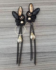 soutache by inga Soutache Earrings, Drop Earrings, Shibori, Brooch, Creative, Style, Fashion, Soutache Jewelry, Ear Studs