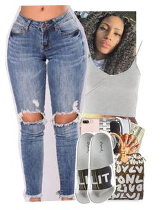"""""""Untitled #2344"""" by txoni ❤ liked on Polyvore featuring Michael Kors, Topshop, Louis Vuitton and Qupid"""