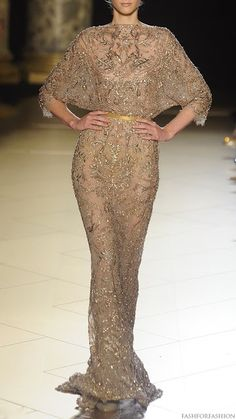 haute couture Elie Saab beaded embroidered lace evening evening gown