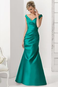 2015 V Neck Mermaid Pleated Prom Dresses Sweep Train US$ 129.99 BFPPKQ68YR - BlackFridayDresses.com