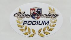 PCA+Club+Racing+Porsche+Club+of+America+Podium+Sticker+Porsche+Racing $4.99 free shipping