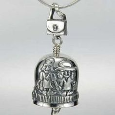 "This unique silver bell says ""sisters are forever"" on one side, two sisters hold hands on another, a purse is the bail, and a lipstick clapper. Your bell will also come with a sentimental st . Ring My Bell, Decorative Bells, Sisters, Pendant, Unique, Rings, Collection, Pendants, Ring"