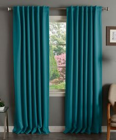 Teal Thermal Blackout Curtain Panel - Set of Two by Best Home Fashion #zulily #zulilyfinds