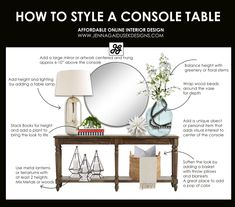 How to design a console table with a refined farmhouse touch . - How to design a console table with a refined farmhouse touch # console ta - Living Room Designs, Living Room Decor, Living Rooms, How To Design Living Room, Fixer Upper Living Room, Decoration Inspiration, Decor Ideas, Decoration Table, Entrance Table Decor