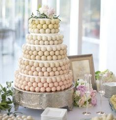 I love this idea as an alternative to a standard wedding cake – still traditional, but with a modern twist! #cake