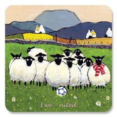 ewe-nited Untersetzer von Thomas Joseph–Funny Schaf: Amazon.de: Küche & Haushalt