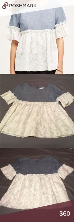 XS Anthropologie PastTime Top by: Atelier Camille Like new! Worn 2x. See description in photos. Anthropologie Tops Blouses
