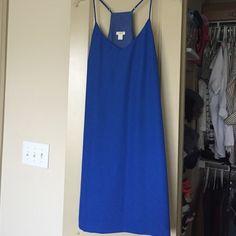 Cobalt Blue Shift Dress Beautiful blue color! Shift/slip dress. Only worn once. Polyester & acetate. J.Crew Factory Dresses Mini
