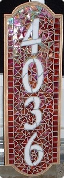 Mosaic Address Plaque Custom Order Only by TeeGeeMosaics on Etsy, $100.00