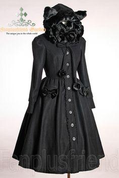 Gothic Lolita Wool Coat