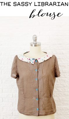 sassy librarian blouse + cement pattern weights tutorial