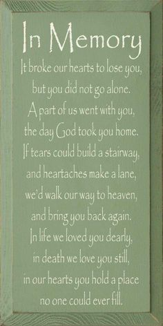 3yrs today dad and it only feels like yesterday.  We love and miss you so much.  Love always Deb, Antoni, Dean and Raymond