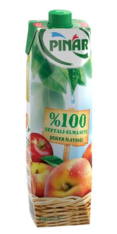 Pınar %100 Şeftali-Elma Suyu