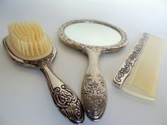 Vintage Hand Mirror Brush and Comb Vanity -can we use a set like this in one dressing room if it can be found?