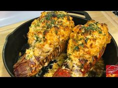 Seafood Stuffed Lobster Tail Recipe - YouTube Recipes With Fish And Shrimp, Shrimp Recipes Easy, Cajun Recipes, Seafood Recipes, Chicken Recipes, Vegan Recipes, Cooking Recipes, Cooking Tools, Sweet Recipes
