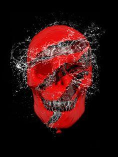 Water Balloon Skull Art Print by Luke Dwyer - Artist