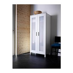 IKEA - ANEBODA, Armario, , Bisagras regulables para que la puerta cuelgue recta.