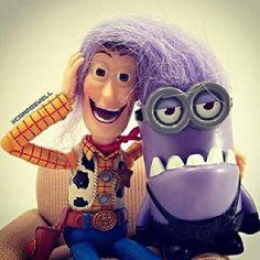 Evil minion & Woody