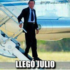 Llegó Julio.