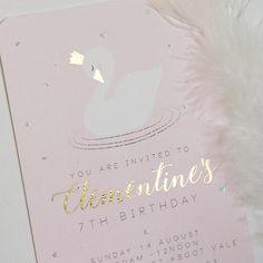 Emma Smith Event Stationery Perfect Swan Invitation 1