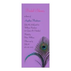 See MoreElegant Peacock Bridal Shower (purple) Personalized InvitationsThis site is will advise you where to buy