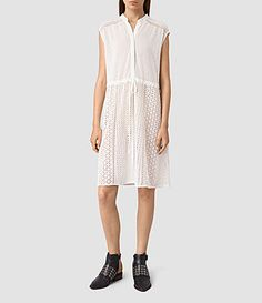Womens Elsa Waist Dress (Chalk White) - product_image_alt_text_1