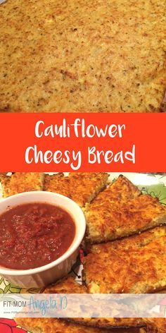 Cauliflower Cheesy Bread | Husband and kid approved | 21 Day Fix, 21 Day Fix Extreme Approved | No yellow containers! | Vegetarian | Gluten Free | Clean eats | FitMomAngelaD.com THIS DISH IS AWESOME!!! A MUST HAVE!!!