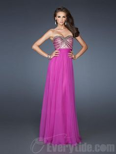 Wholesale Sweetheart A-line Chiffon Sequined Floor-length Beading Prom Dresses