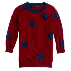 Tippi sweater in polka dot    If this came in full length sleeves, I would already own it.