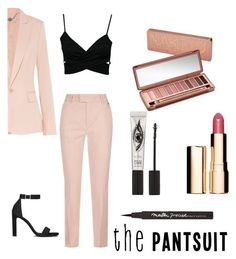 """""""The pantsuit #1"""" by camibelen4 ❤ liked on Polyvore featuring Escada Sport, STELLA McCARTNEY, Yves Saint Laurent, Urban Decay, Clarins, Maybelline, Eyeko and thepantsuit"""