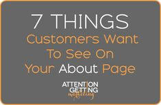 7 Things Customers Want to See on Your About Page