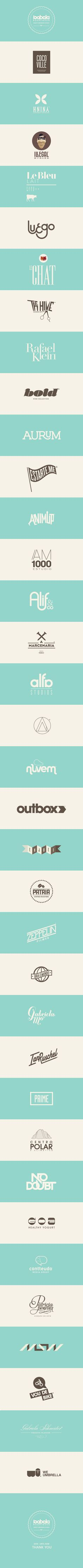 Lovely Logo Collection by Isabela Rodrigues, via Behance