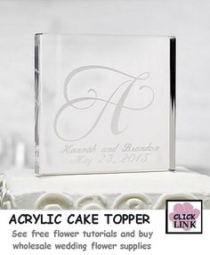 Stylish clear acrylic for a simple, clean look on top of your #wedding #cake. $24.99