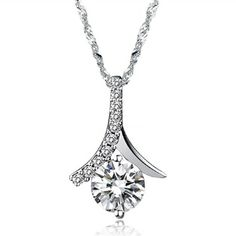[$8.49]-Fashionable Personality Platinum Plated Necklaces