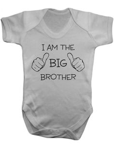 Baby One Piece - Screen Printed Baby Bodysuit - I Am The Big Brother - 100% Cotton by MargaridaWorkshop on Etsy