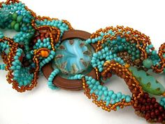Seed bead bracelet Beadwork bracelet Beaded jewelry by ibics, $80.00