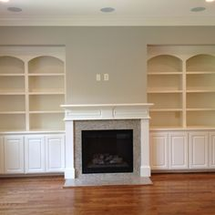 built ins surrounding fireplace | Built-ins around the fireplace