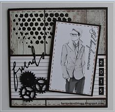 sizzix mixed media die - Google Search Confirmation Cards, Boy Cards, Birthday Cards For Men, Masculine Cards, Creative Words, Little People, Making Ideas, Cardmaking, Projects To Try