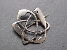 Archibald Knox Liberty Cymric silver celtic knot brooch
